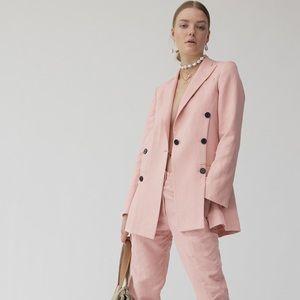 Derek Lam 10 Crosby Oversized Pink Blazer